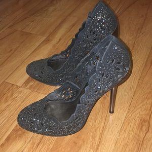 Black detailed heels